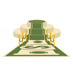 Money award carpet vector