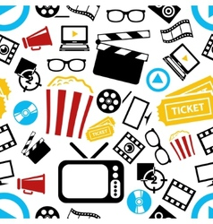 movie seamless pattern vector image vector image