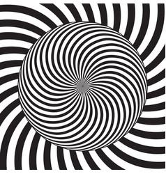 Optical effect geometric tile in pop vector