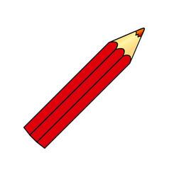 red pencil color icon vector image