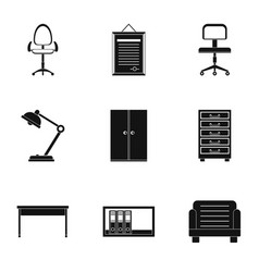 school furniture icons set simple style vector image vector image