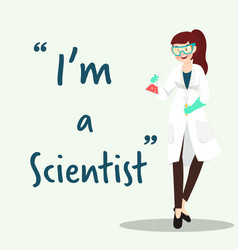 scientist character with science experiment flat vector image vector image