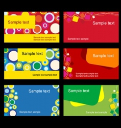 set of business cards vector image