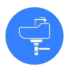 Sink icon in black style isolated on white vector image vector image