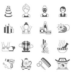 Spa icons black set vector