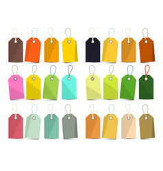 Tags set colorful empty labels isolated on white vector