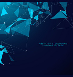 Technology background with triangle shapes and vector