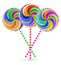 Three lollipops vector image