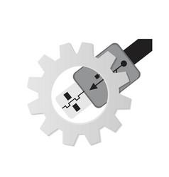 Usb icon - vector