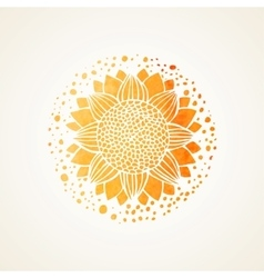 Watercolor sunny yellow lace pattern vector