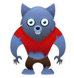 werewolf cute cartoon character vector image vector image