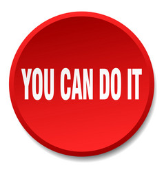 You can do it red round flat isolated push button vector