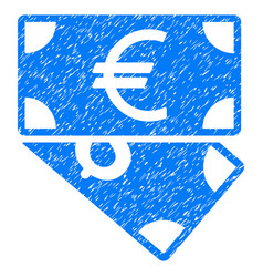 euro and dollar banknotes grunge icon vector image