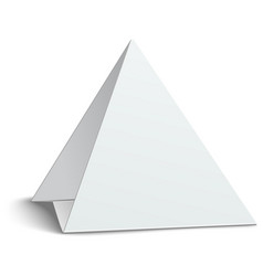 Three-cornered triangular blank paper table card vector