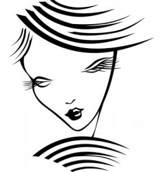 Girl with long eyelashes vector