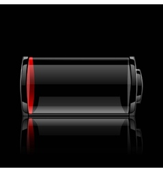 Battery glossy web icon vector