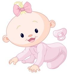Cute creeping baby vector image