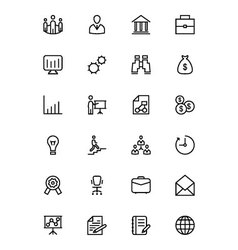 Business and Finance Line Icons 1 vector image