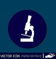 Microscope sign symbol icon studying biology or vector