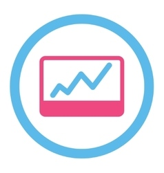 Stock market icon vector