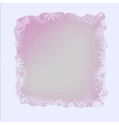 White winter frame vector
