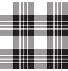 Macgregor tartan plaid black and white seamless vector