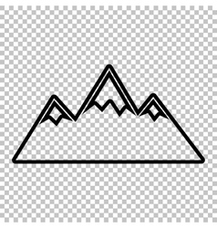 Mountain sign line icon vector