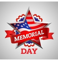 Memorial day design vector