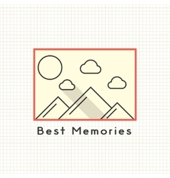 Best memories photoframe on the notebook sheet vector