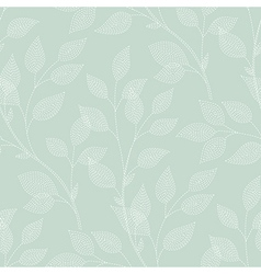 Leaves needlework green vector