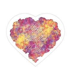Abstract heart with handwritten inscription vector image