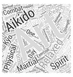 Aikido spirit word cloud concept vector