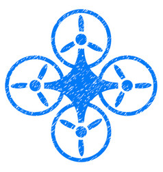 Air drone grunge icon vector