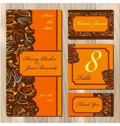 Autumn tansy wedding invitation card Printable vector image vector image