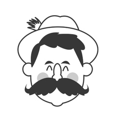 Bavarian man icon vector