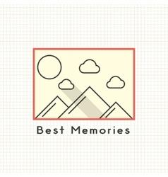 Best memories photoframe on the notebook sheet vector