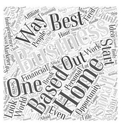 Best small home based business word cloud concept vector