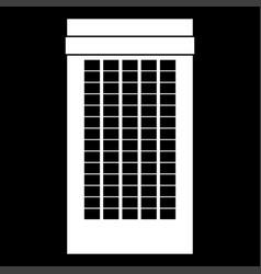 building white color icon vector image