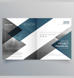 Business bifold brochure flyer leaflet magazine vector
