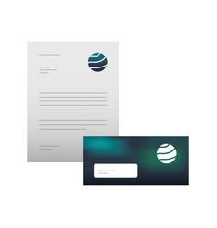 business letterhead envelope stationary branding vector image