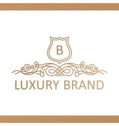 Calligraphic Luxury logo Emblem elegant decor vector image