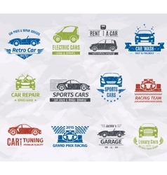 Car logo stamps vector