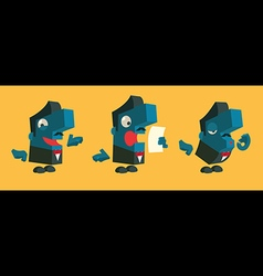 Cartoon announcer vector image vector image
