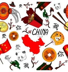 China icons pattern vector