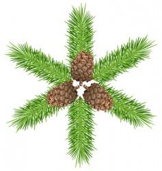 cones amp branch vector image