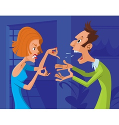 couple conflict vector image