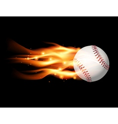 Fire baseball vector