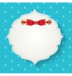 gift card with ribbons design elements vector image vector image