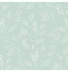 Leaves needlework green vector