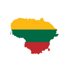 lithuania flag and map vector image vector image